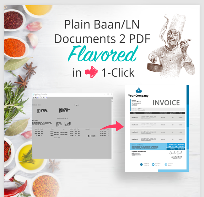 Plain Baan/LN Documents 2 PDF Flavored in 1-Click