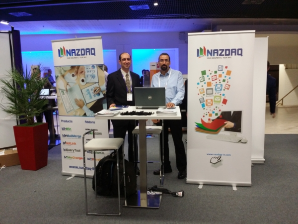 NAZDAQ sponsors an Infor event Paris - 2