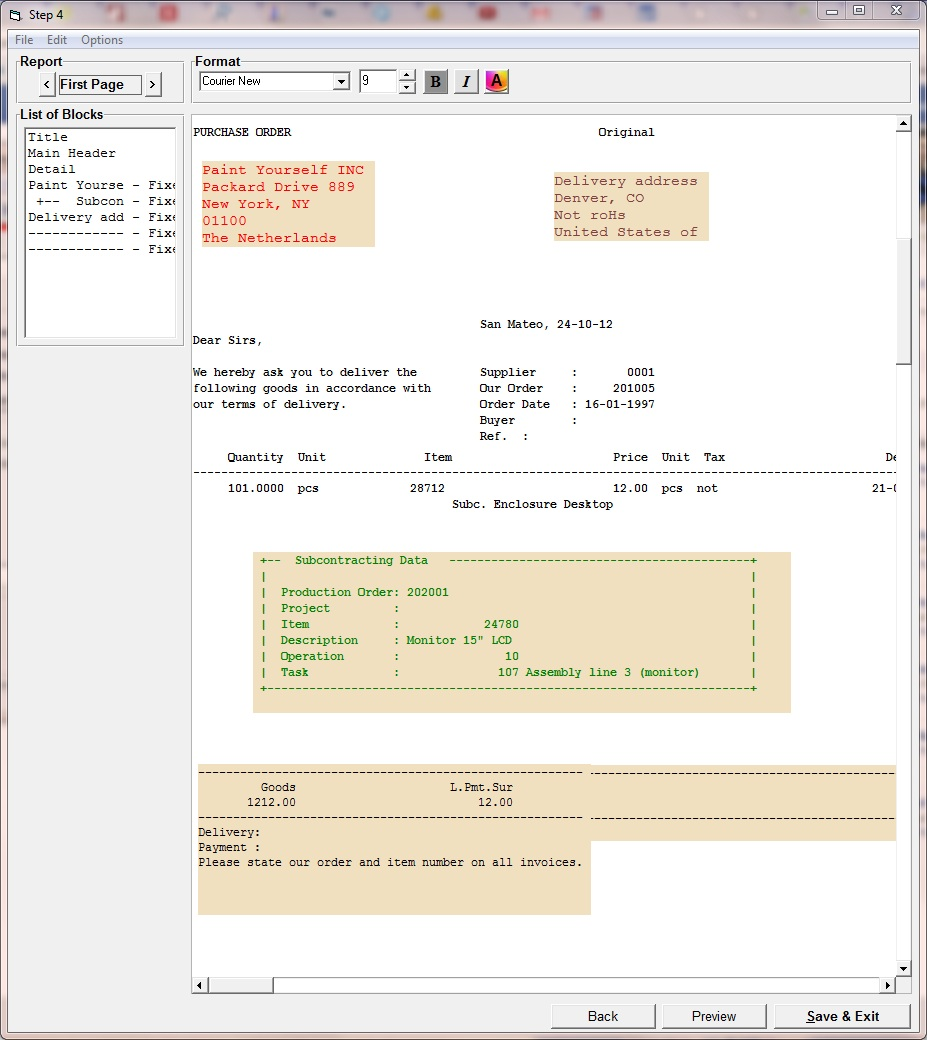 b2Mail-Merge PDF Designer