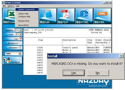 B2Win file missing error