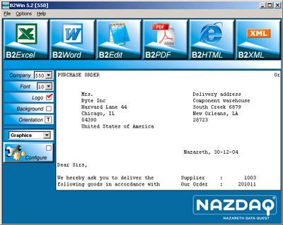 B2Win 5.2 Interface