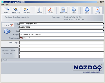 b2Mail-Merge 5.2 Interface