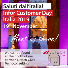 Meet us at Infor Customer Day 2019, the 19th of November