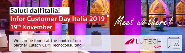 Meet us at Infor Customer Day 2019, the 19th of November